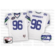 NFL Cortez Kennedy Seattle Seahawks Authentic Road Hall of Fame 2012 Throwback Mitchell and Ness Jersey - White