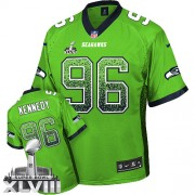 NFL Cortez Kennedy Seattle Seahawks Elite Drift Fashion Super Bowl XLVIII Nike Jersey - Green
