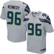 NFL Cortez Kennedy Seattle Seahawks Elite Alternate Nike Jersey - Grey