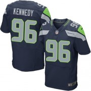 NFL Cortez Kennedy Seattle Seahawks Elite Team Color Home Nike Jersey - Navy Blue