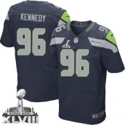 NFL Cortez Kennedy Seattle Seahawks Elite Team Color Home Super Bowl XLVIII Nike Jersey - Navy Blue