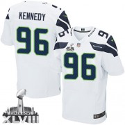 NFL Cortez Kennedy Seattle Seahawks Elite Road Super Bowl XLVIII Nike Jersey - White