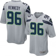 NFL Cortez Kennedy Seattle Seahawks Game Alternate Nike Jersey - Grey