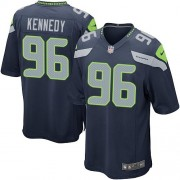 NFL Cortez Kennedy Seattle Seahawks Game Team Color Home Nike Jersey - Navy Blue
