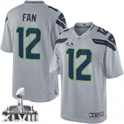 NFL 12th Fan Seattle Seahawks Limited Alternate Super Bowl XLVIII Nike Jersey - Grey