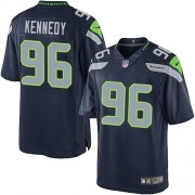 NFL Cortez Kennedy Seattle Seahawks Limited Team Color Home Nike Jersey - Navy Blue