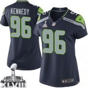 NFL Cortez Kennedy Seattle Seahawks Women's Elite Team Color Home Super Bowl XLVIII Nike Jersey - Navy Blue