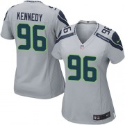 NFL Cortez Kennedy Seattle Seahawks Women's Game Alternate Nike Jersey - Grey