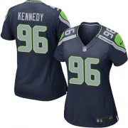 NFL Cortez Kennedy Seattle Seahawks Women's Game Team Color Home Nike Jersey - Navy Blue