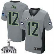 NFL 12th Fan Seattle Seahawks Limited Super Bowl XLVIII Nike Jersey - Grey Shadow