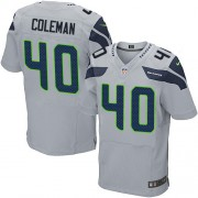 NFL Derrick Coleman Seattle Seahawks Elite Alternate Nike Jersey - Grey