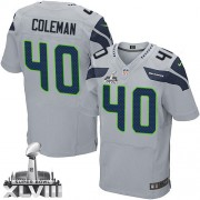 NFL Derrick Coleman Seattle Seahawks Elite Alternate Super Bowl XLVIII Nike Jersey - Grey