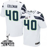 NFL Derrick Coleman Seattle Seahawks Elite Road Super Bowl XLVIII Nike Jersey - White