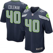 NFL Derrick Coleman Seattle Seahawks Game Team Color Home Nike Jersey - Navy Blue