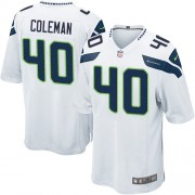 NFL Derrick Coleman Seattle Seahawks Game Road Nike Jersey - White