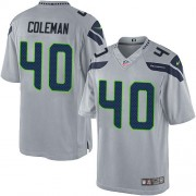 NFL Derrick Coleman Seattle Seahawks Limited Alternate Nike Jersey - Grey