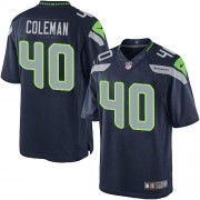 NFL Derrick Coleman Seattle Seahawks Limited Team Color Home Nike Jersey - Navy Blue