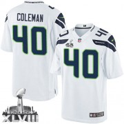 NFL Derrick Coleman Seattle Seahawks Limited Road Super Bowl XLVIII Nike Jersey - White