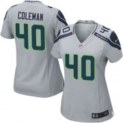 NFL Derrick Coleman Seattle Seahawks Women's Elite Alternate Nike Jersey - Grey