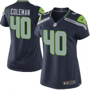 NFL Derrick Coleman Seattle Seahawks Women's Elite Team Color Home Nike Jersey - Navy Blue