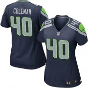 NFL Derrick Coleman Seattle Seahawks Women's Game Team Color Home Nike Jersey - Navy Blue