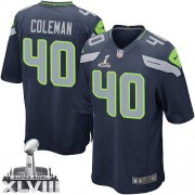NFL Derrick Coleman Seattle Seahawks Youth Elite Team Color Home Super Bowl XLVIII Nike Jersey - Navy Blue