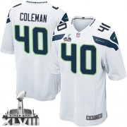 NFL Derrick Coleman Seattle Seahawks Youth Elite Road Super Bowl XLVIII Nike Jersey - White
