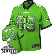 NFL Doug Baldwin Seattle Seahawks Elite Drift Fashion Super Bowl XLVIII Nike Jersey - Green