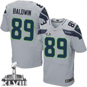 NFL Doug Baldwin Seattle Seahawks Elite Alternate Super Bowl XLVIII Nike Jersey - Grey