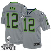 NFL 12th Fan Seattle Seahawks Limited Super Bowl XLVIII Nike Jersey - Lights Out Grey
