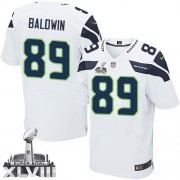 NFL Doug Baldwin Seattle Seahawks Elite Road Super Bowl XLVIII Nike Jersey - White