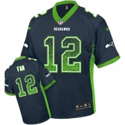NFL 12th Fan Seattle Seahawks Limited Drift Fashion Nike Jersey - Navy Blue