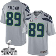 NFL Doug Baldwin Seattle Seahawks Limited Alternate Super Bowl XLVIII Nike Jersey - Grey