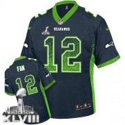 NFL 12th Fan Seattle Seahawks Limited Drift Fashion Super Bowl XLVIII Nike Jersey - Navy Blue