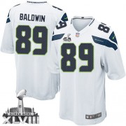 NFL Doug Baldwin Seattle Seahawks Limited Road Super Bowl XLVIII Nike Jersey - White