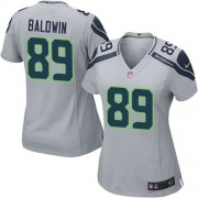 NFL Doug Baldwin Seattle Seahawks Women's Elite Alternate Nike Jersey - Grey