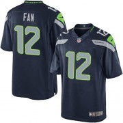 NFL 12th Fan Seattle Seahawks Limited Team Color Home Nike Jersey - Navy Blue