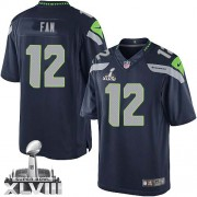 NFL 12th Fan Seattle Seahawks Limited Team Color Home Super Bowl XLVIII Nike Jersey - Navy Blue