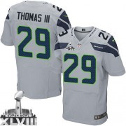 NFL Earl Thomas III Seattle Seahawks Elite Alternate Super Bowl XLVIII Nike Jersey - Grey