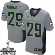 NFL Earl Thomas III Seattle Seahawks Elite Super Bowl XLVIII Nike Jersey - Grey Shadow
