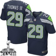 NFL Earl Thomas III Seattle Seahawks Elite Team Color Home Super Bowl XLVIII Nike Jersey - Navy Blue