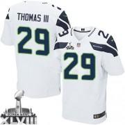 NFL Earl Thomas III Seattle Seahawks Elite Road Super Bowl XLVIII Nike Jersey - White