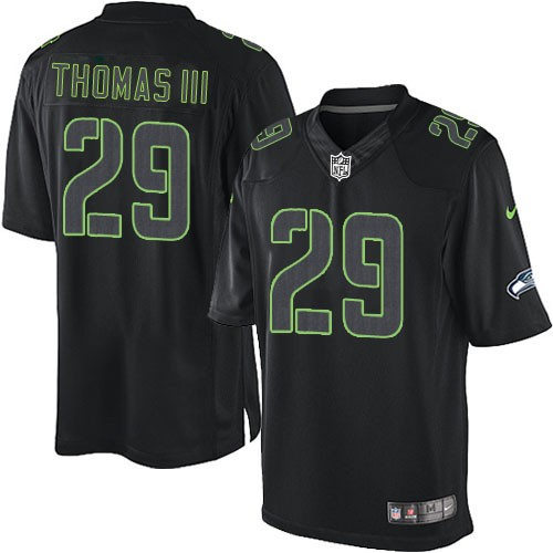 promo code 64eeb c9436 NFL Earl Thomas III Seattle Seahawks Game Nike Jersey - Black Impact