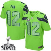 NFL 12th Fan Seattle Seahawks Elite Alternate Super Bowl XLVIII Nike Jersey - Green