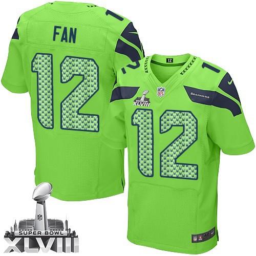 NFL 12th Fan Seattle Seahawks Elite Alternate Super Bowl XLVIII Nike Jersey - Green