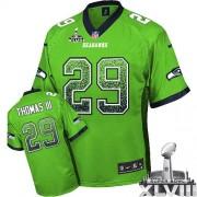 NFL Earl Thomas III Seattle Seahawks Game Drift Fashion Super Bowl XLVIII Nike Jersey - Green