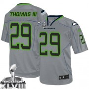 NFL Earl Thomas III Seattle Seahawks Game Super Bowl XLVIII Nike Jersey - Lights Out Grey