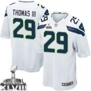 NFL Earl Thomas III Seattle Seahawks Game Road Super Bowl XLVIII Nike Jersey - White