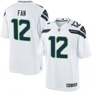 NFL 12th Fan Seattle Seahawks Limited Road Nike Jersey - White