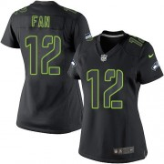 NFL 12th Fan Seattle Seahawks Women's Elite Nike Jersey - Black Impact